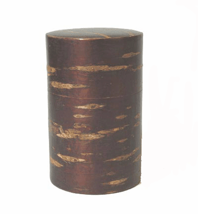 Cherry Wood Tea Canister<br> Holds 90 Grams