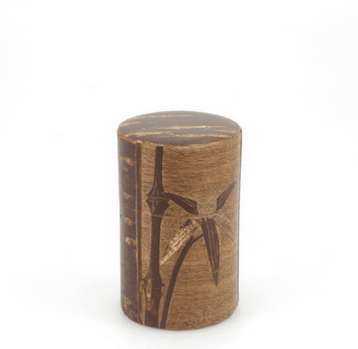 Cherrywood Bamboo Canister, Holds  <br>90 Grams