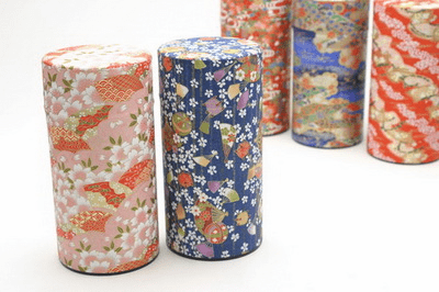 Chiyagomi Assorted Tea Canisters, <br> Each Holds 300 Grams