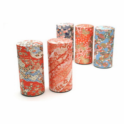 Chiyogami Tea Canisters, Each Holds  <br>200 Grams