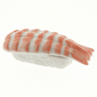 Chopstick Rest Ceramic Sushi<br> Shrimp Nigiri