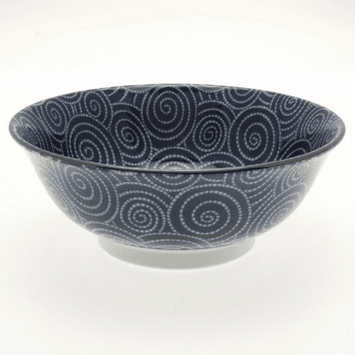 Cobalt Cloud Swirls Ramen Bowl