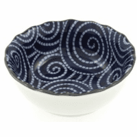 Cobalt Cloud Swirls Sauce bowl