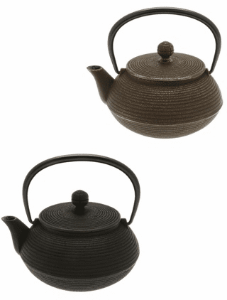 Concentric Rings Cast Iron Teapot Series