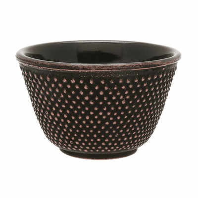 Copper/Black Hobnail Cast Iron <br>Tea Cup by Iwachu