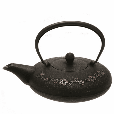 Copper & Black Sakura Branch Cast<br> Iron Teapot by Iwachu 20 oz.