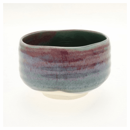 Copper Red Oribe Matcha Chawan <br> Tea Bowl