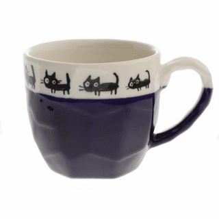 Craft Rock Back Cats Blue Mug, 12 oz.