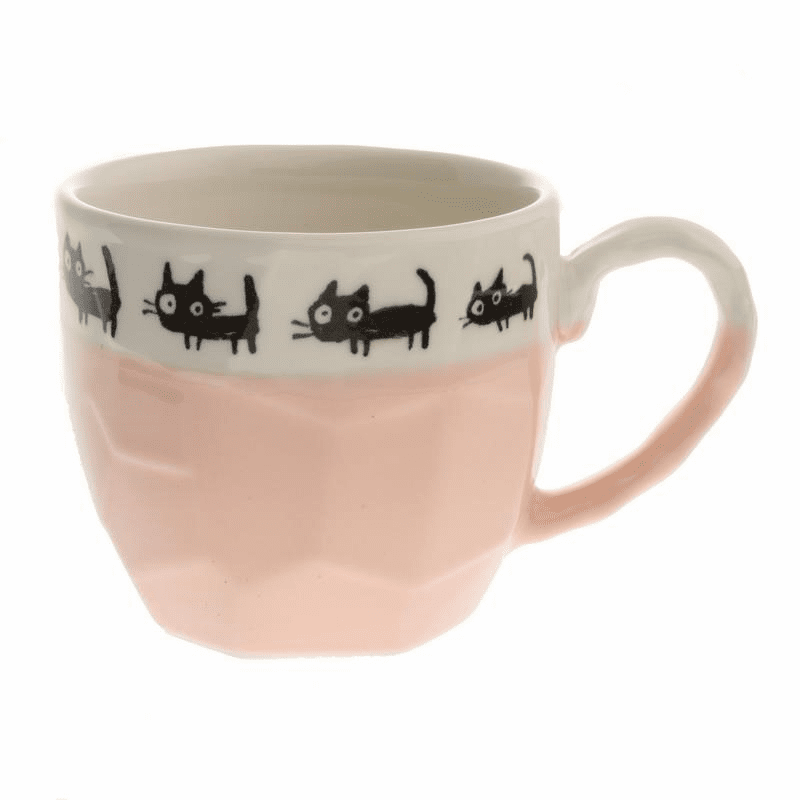 Craft Rock Black Casts coral Pink Mug, 12 oz.