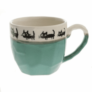 Craft Rock Black Cats Seafoam Mug, 12 oz.