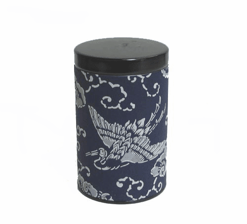Crane Aizome Tea Canister,   <br>Holds 100 Grams