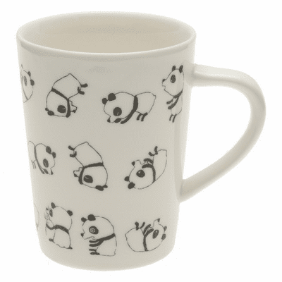 Crazy Black Pandas Mug 12 oz.