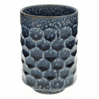 Diamond Pattern Ocen Blue Tortoise Sushi Tea Cup 12 oz.