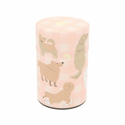 Dog Poses Tea Canister,  <br>Holds 100 Grams