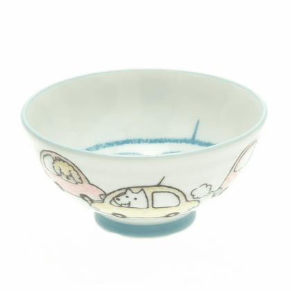 """""""Dogs out for a Ride!"""" Rice Bowl"""