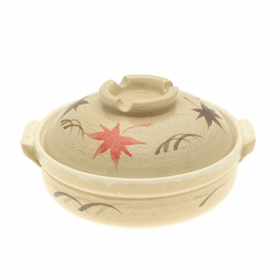 "Donabe/Japanese Hot Pot/Casserole<br> Autumn Maple 9-3/4"" & 10-3/4""<br> Made in Japan"