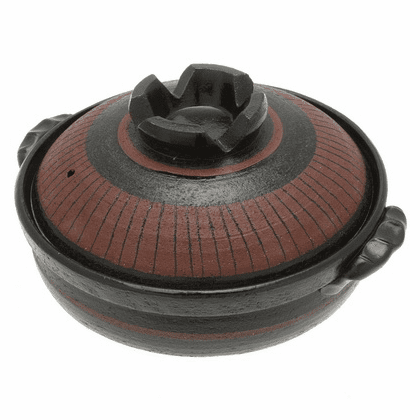 "Donabe/Japanese Hot Pot/Casserole <br>Black Azuki 8-1/2"", 9-3/4"" & 10-3/4"" <br>Made in Japan"
