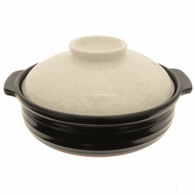 Donabe/Japanese Hot Pot/Casserole<br> Sumi/Black, 10-3/4""