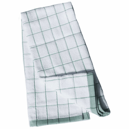 e-cloth Classic Check Kitchen  <br>Towel - Green