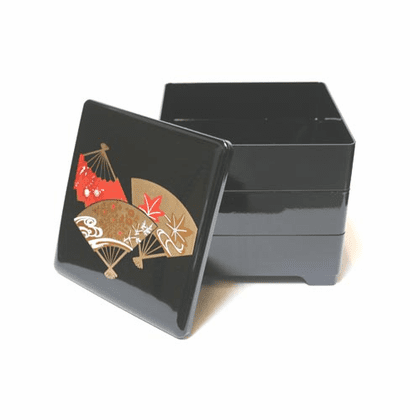 Fan Lacquerware Stack/Jubako Box
