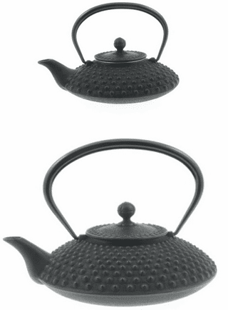 Flat Hailstone Cast Iron Tea Pot Series