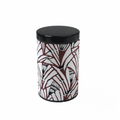 Flower Tea Canister, Holds 100 Grams
