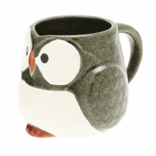 Forest Green Owl Mug, 9 oz.