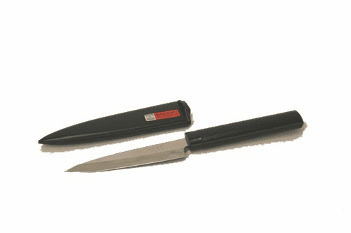 Fruit/Paring Knife with Black<br> Wood Cover