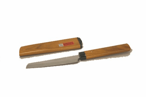 Fruit/Paring Knife with Brown<br> Wood Cover