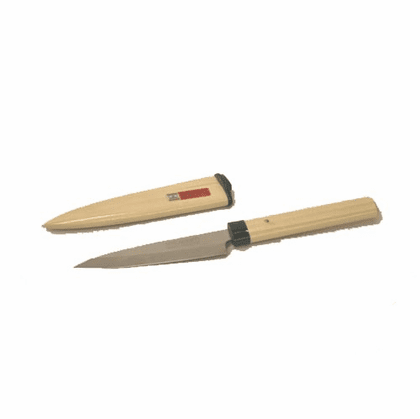 Fruit/Paring Knife with Natural<br> Wood Cover