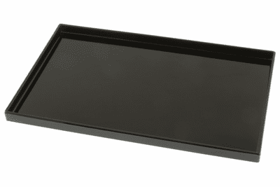 "Glossy Black Finish Rectangular  <br>Lacquer Ware Tray 10-1/2"" x 6-5/8"""