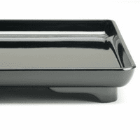 "Glossy Finish Plastic Square Kaiseki  Lacquer ware Tray 14-1/4"" Sq."