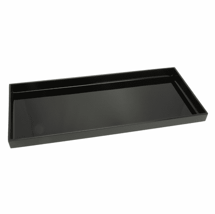 "Glossy Finish Rectangular Plastic  <br>Lacquer ware Tray, 14-1/4 "" x 6-1/2"" or 16-5/8"" x 7-3/4"""
