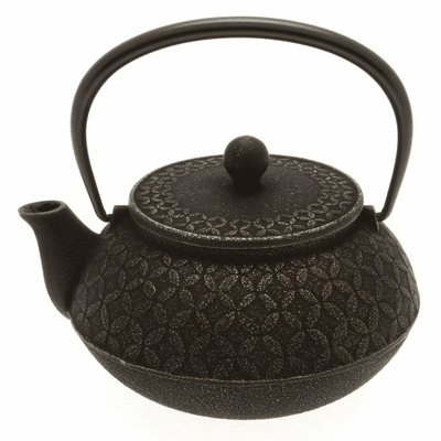 Gold and Black Tessellation <br>Cast Iron Teapot, 20 oz.