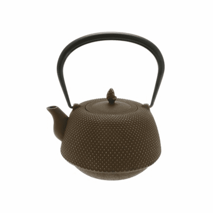 Gold and Brown Hobnail Cast Iron <br>Teapot  by Iwachu 34 oz.