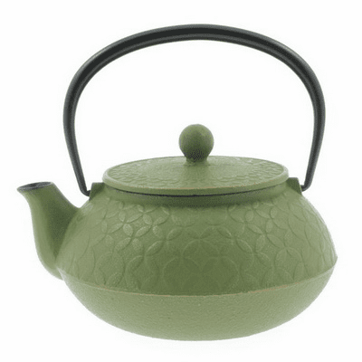 Gold and Green Tessellation Cast Iron <br>Teapot 20 oz. by Iwachu