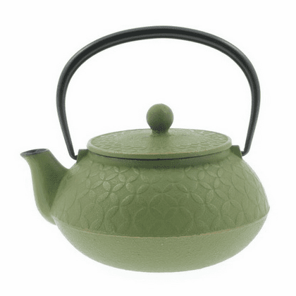Gold and Green Tessellation Cast Iron Teapot 20 oz. by Iwachu