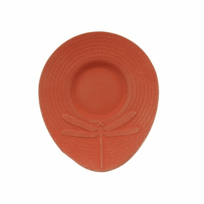 Gold/Cinnabar Dragonfly<br> Cast Iron Coaster