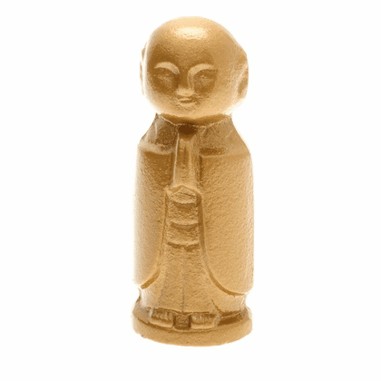 Gold Color Jizo Statue Cast Iron Paper Weight by Iwachu