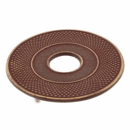 Golden Reddish Brown Hobnail <br>Hailstone (Arare) Cast Iron Trivet, <br>Made by Iwachu 5-1/2""