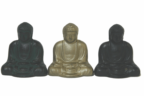 Good Karma Buddha/Daibutsu Cast  <br>Iron Paperweights