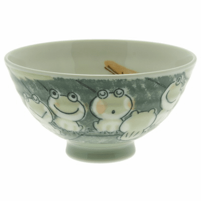Green Chorus Frogs Bowl
