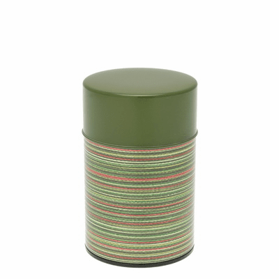 Green Color Rings Tea Canister,  <br>100 Grams