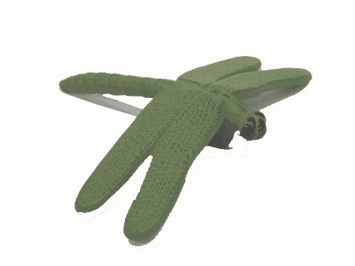 Green Dragonfly Cast Iron Paper Weight