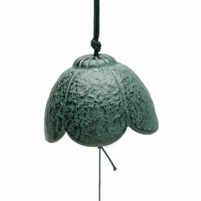 Green Flower Cast Iron Wind Chime