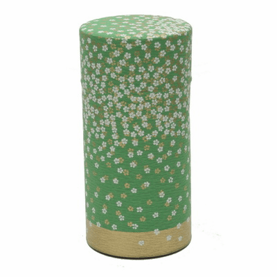 Green Flower Garden Tea Canister,  <br>200 Grams