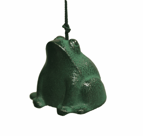 Green Frog Cast Iron Wind Chime