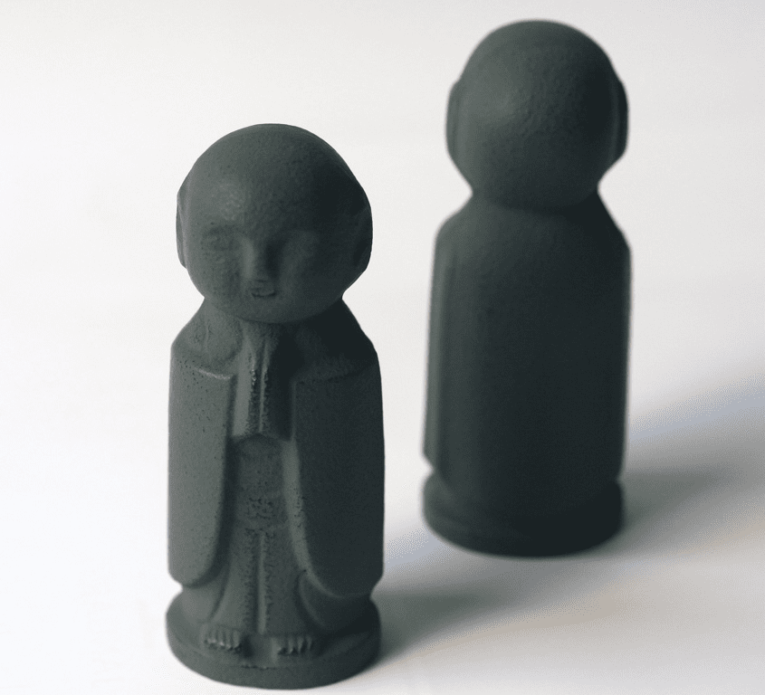 Green Jizo Cast Iron Paper Weight <br> by Iwachu