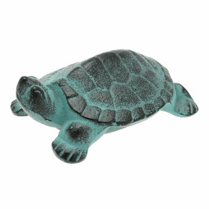 Green Pond Turtle Cast Iron Paper Weight