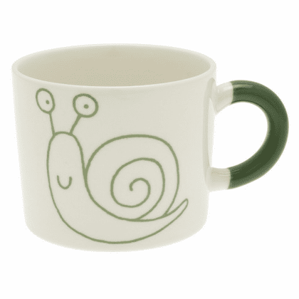 Green Snail Mug, 12 oz.